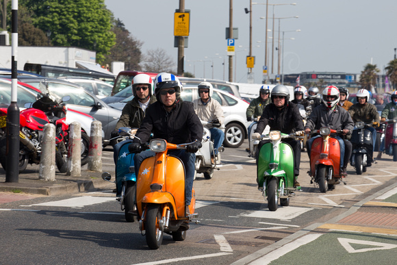 UK Southend-On-Sea.  21st April 2014.  16th Annual Shakedown.